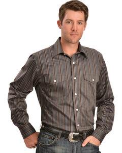 Gibson Trading Co. Brown Dobby Stripe Shirt, , hi-res