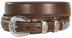 Leather Overlay Ranger Belt, , hi-res