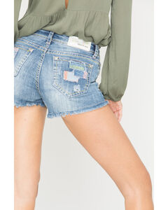 Grace in LA Patchwork Cutoff Shorts, , hi-res