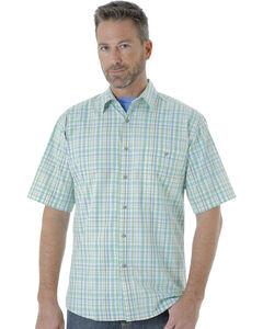 Wrangler Men's Rugged Wear Moisture Wicking Plaid Shirt , , hi-res