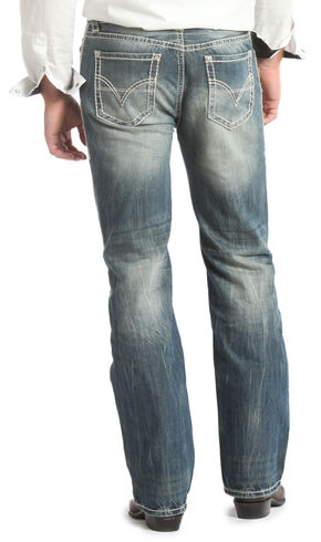 Rock & Roll Cowboy Double Barrel Straight Leg Relaxed Fit Jeans, Med Wash, hi-res