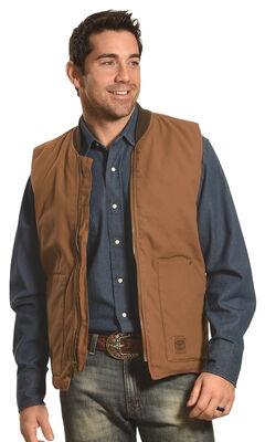 Forge Workwear Men's Brown Canvas Vest , , hi-res