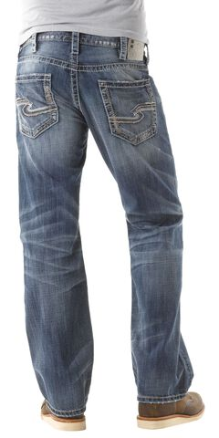 Silver Zac Relaxed Fit Straight Leg Jeans, , hi-res