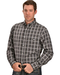 Gibson Trading Co. Grey Plaid Long Sleeve Shirt, , hi-res