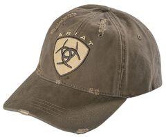Ariat Distressed Logo Patch Cap, , hi-res