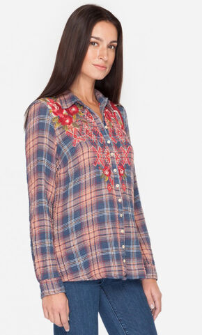 3J Workshop by Johnny Was Women's Multi Asilah Button Back Shirt, Multi, hi-res