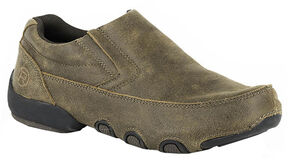 Roper Men's Country Cruisers Driving Moc Shoes, Brown, hi-res