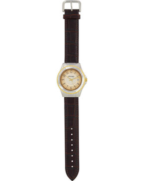 Montana Silversmiths Men's Brown Bark Leather Watch, Brown, hi-res