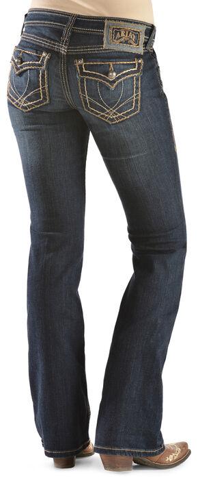 Ariat Women's Ruby Runaway Flap Bootcut Jeans, Denim, hi-res