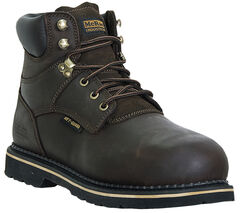 McRae Men's Steel Toe Internal Met Guard Lace Up Work Boots, , hi-res