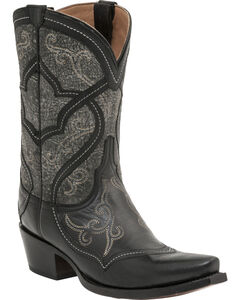 Lucchese Handcrafted 1883 Women's Audine Cowgirl Boots - Snip Toe, Black, hi-res