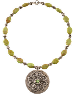 Julie Rose Green Apple Beaded Necklace, Green, hi-res