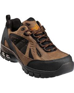 Men's Nautilus Men's Brown Metal Free Work Athletic Shoes - Comp Toe , , hi-res