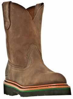 John Deere Boys' Johnny Popper Western Boots - Round Toe, , hi-res