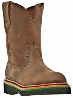John Deere Boys' Johnny Popper Western Boots - Round Toe, Gaucho, hi-res