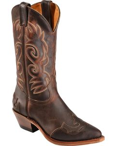 Boulet Fancy Cutout Cowgirl Boots - Pointed Toe, , hi-res