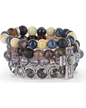 Shyanne Women's Multi-Layered Faith Bracelets, Silver, hi-res