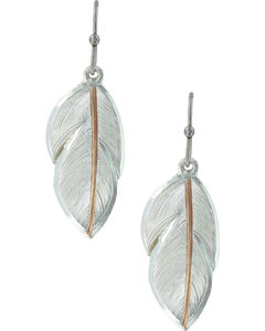 Montana Silversmiths Women's Downy Feather Earrings, , hi-res