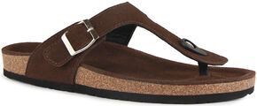 Lamo Women's Redwood Thong Sandals , Chocolate, hi-res