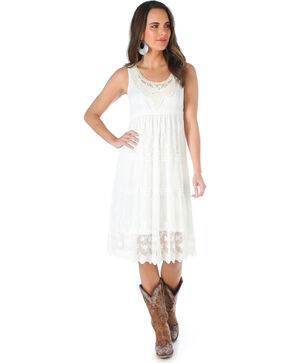 Wrangler Women's Sleeveless Ivy Lace Dress, Ivory, hi-res