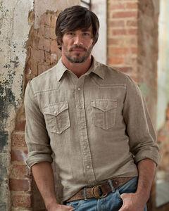 Ryan Michael Men's Tumbleweed Split Rail Seam Shirt - Big and Tall , , hi-res