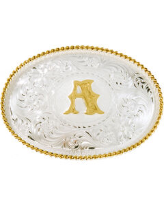 "Montana Silversmiths Initial ""A"" Buckle, , hi-res"