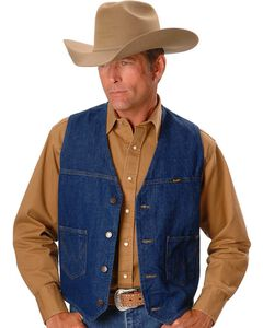 Wrangler Unlined Denim Vest, , hi-res