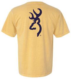 Browning Men's Mustard Buckmark Short Sleeve Tee, Sunshine, hi-res