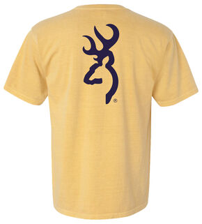 Browning Men's Mustard Buckmark Short Sleeve Tee, Sunshine, hi-res