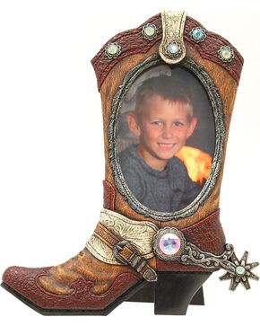 "Western Moments Cowboy Boot Photo Frame - 4"" x 6"", Brown, hi-res"