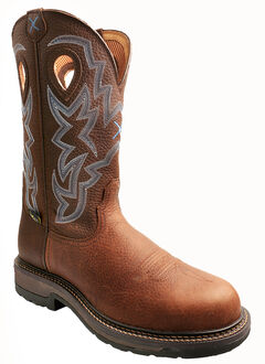 Twisted X Pebble Brown Lite Weight Cowboy Work Boots - Composite Toe, , hi-res