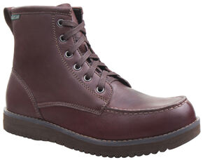 Eastland Men's Dark Walnut Harrison Moc Toe Boots, Brown, hi-res