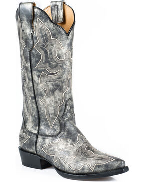 Stetson Jess Cowgirl Boots - Snip Toe, Grey, hi-res