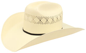 Ariat Double S 10X Straw Cowboy Hat, Natural, hi-res
