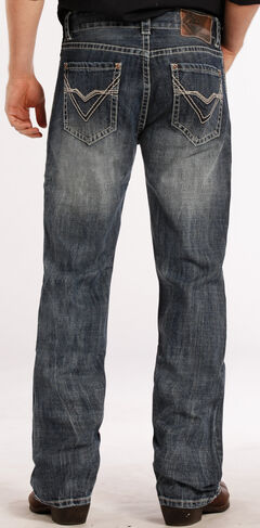 Rock and Roll Cowboy Double Barrel Relaxed Fit ZigZag Jeans - Straight Leg , , hi-res