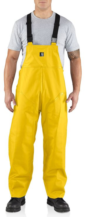 Carhartt Surry Rain Bib Overalls, Yellow, hi-res