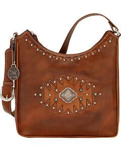 American West Annie's Secret Antique Tan Southwest Hidden Compartment Shoulder Bag, , hi-res