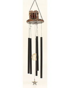 Western Moments Cowboy Boot and Gun Wind Chime, , hi-res