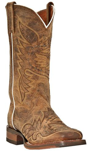 Dan Post Mad Cat Sidewinder Cowgirl Boots - Square Toe, Tan, hi-res