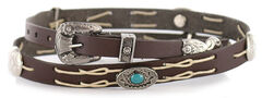Cody James Navajo Concho Leather Hat Band, , hi-res