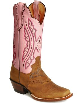 Justin Punchy cowboy boots, Coffee, hi-res