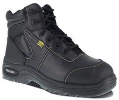 "Reebok Men's Trainex 6"" Lace-Up Internal Met Guard Work Boots - Composite Toe, , hi-res"