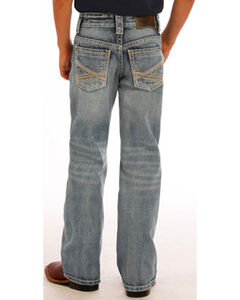 Rock & Roll Cowboy Boys' Blue Abstract Jeans - Boot Cut, , hi-res