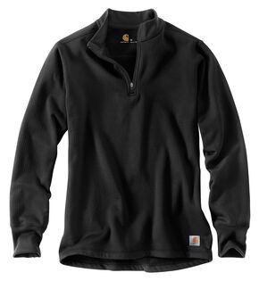 Carhartt Base Force Cold Weather Quarter Zip Sweatshirt, Black, hi-res