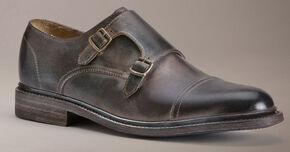 Frye Men's James Double Monk Shoes, Dark Brown, hi-res