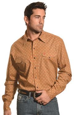 Garth Brooks Sevens by Cinch Beige Print Western Snap Shirt , , hi-res