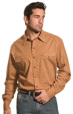 Garth Brooks Sevens by Cinch Beige Print Western Snap Shirt , Beige, hi-res