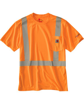 Carhartt Force High-Viz Short Sleeve Class 2 T-Shirt - Big & Tall, Orange, hi-res