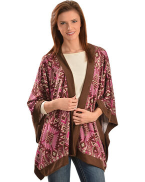Wrangler Rock 47 Women's Tribal Kimono Style Cardigan, Multi, hi-res