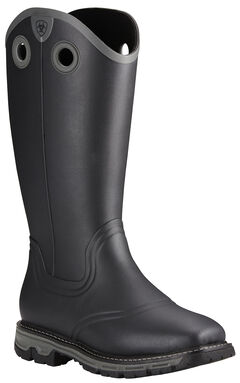 Ariat Men's Black Conquest Insulated Rubber Boots - Square Toe ...